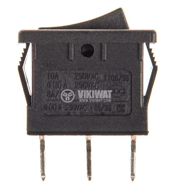 Rocker превключвател, 2 позиции, ON-ON, 10A/250VAC, отвор 19x13mm - 2