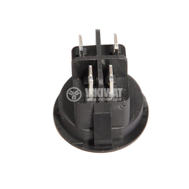 Rocker Switch, 10A/250VAC, ON-OFF, DPST, round - 2