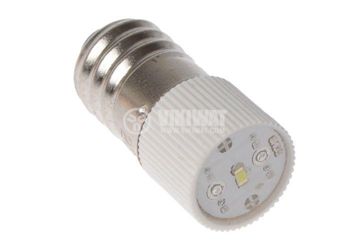 Миниатюрна LED лампа, 220V, E10, 3.5mA, бяла