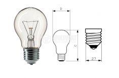 Обикновена лампа 220 VAC, 60 W, E27