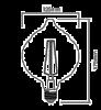 LED FILAMENT bulb 4W, E27, 220VAC, 240lm, 2200K, warm white, amber, BB59-00420 - 2