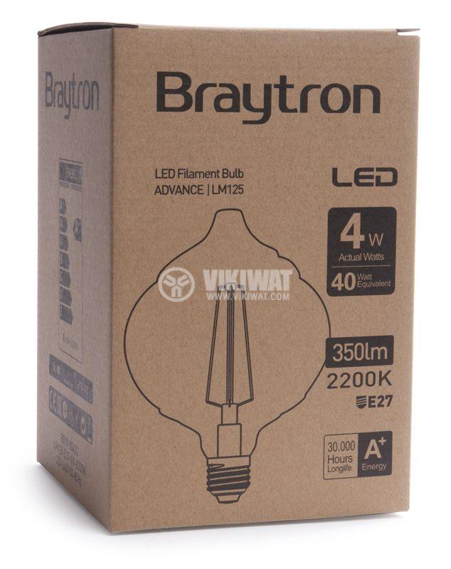 LED лампа BB59-00420, Е27, 4W, 2200K, 240LM, топло бяла - 8