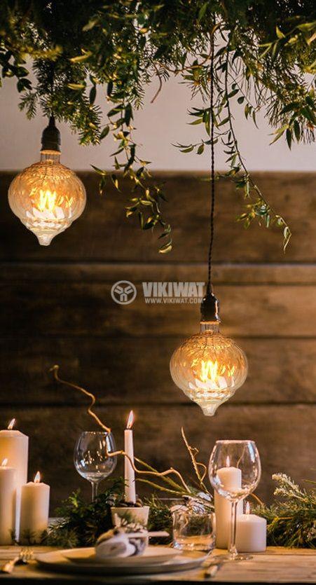 LED лампа FILAMENT LM125, 4W, Е27, 220VAC, 240lm, 2200K, топлобяла, amber, BB59-00420 - 3