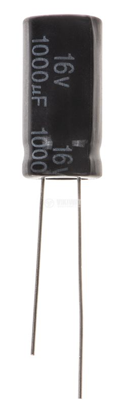 Кондензатор електролитен 1000uF, 16V, THT, ф10x20mm, Low ESR, нисък импеданс - 1