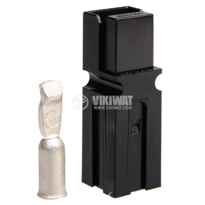 Plug 75 А, 600 V, black - 1