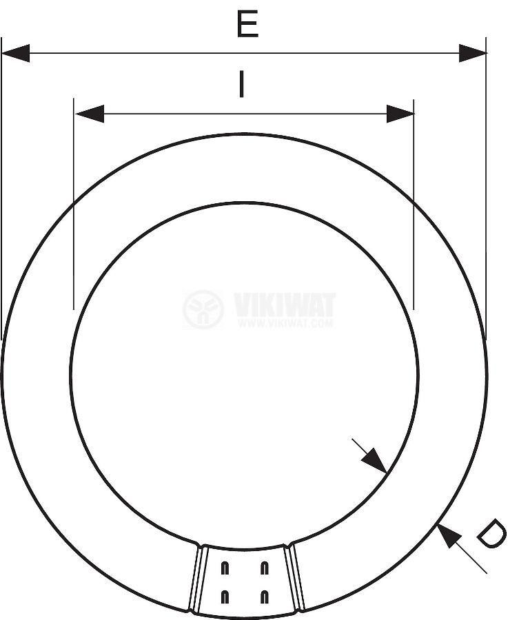 Луминесцентен кръг T9, 22W, 4000K(бял), 4пина - 2