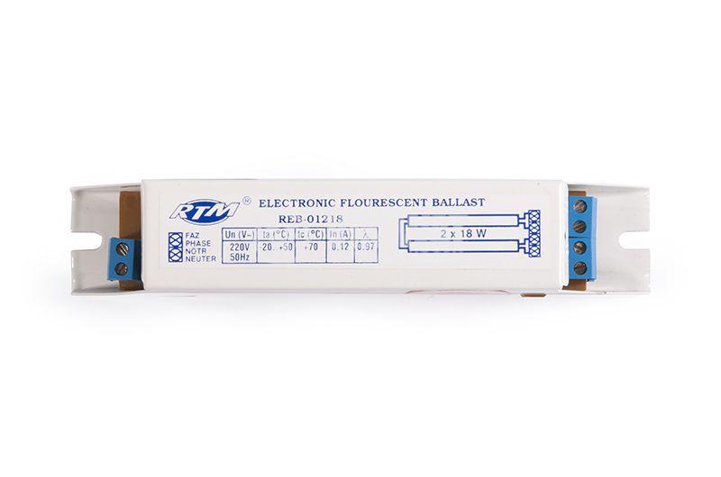 Electronic ballast, 220 VAC, 2x18 W - 1