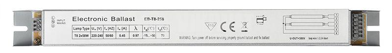 Дросел за луминисцентни лампи 2R, 220VAC, 2x58W, Т8 - 1