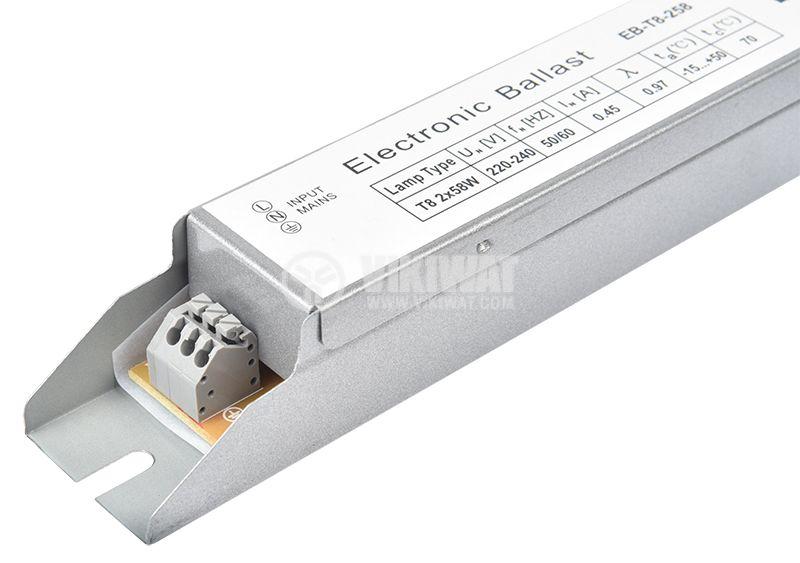 d9fb8a8145c Дросел за луминисцентни лампи 2R 220VAC 2x58W Т8 vikiwat