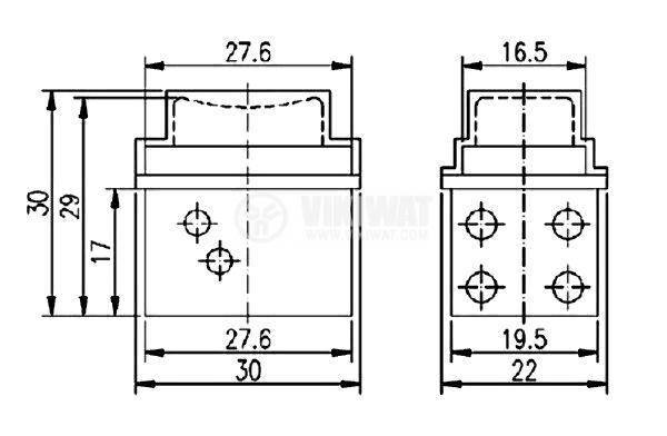 Електрически прекъсвач (ключ) за ръчни електроинструменти FA2-5/2W 5A/250VAC 2NO - 2