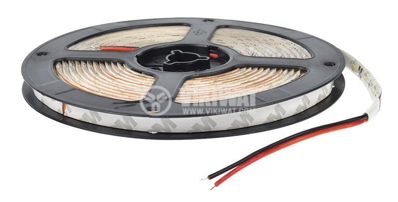 LED лента ECOLINE 3528, 60LED/m, 4.8W/m,12VDC, IP65, влагозащитена, студено бяла, BS45-0202 - 3