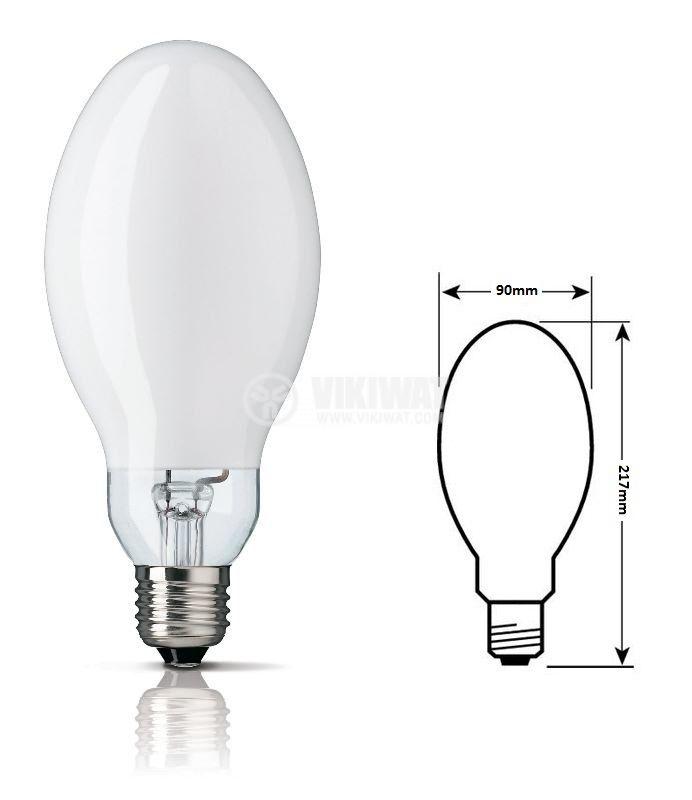 Живачна лампа, 250W, E40, 220VAC - 1