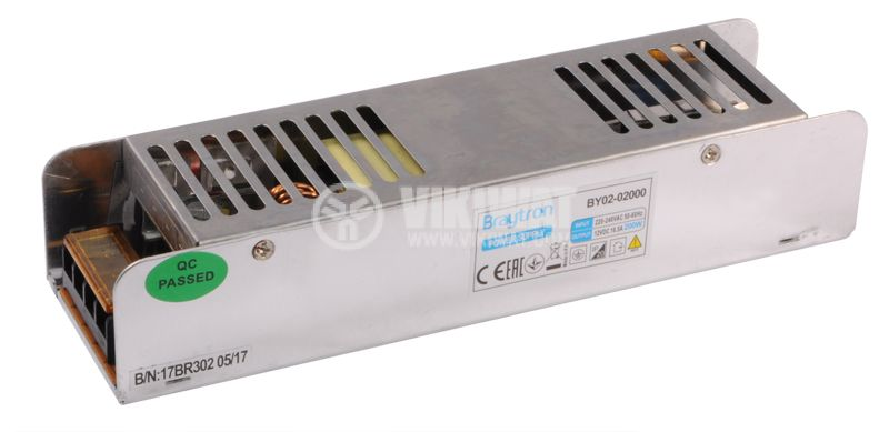 Power Supply BY02-2000, 220-240VAC, 16.5A, 200W, IP20 - 4