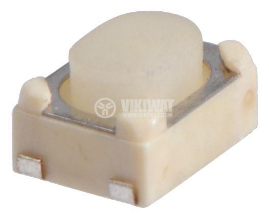 Irretentive Micro Switch NO, SPST, OFF-(ON), SMD - 1
