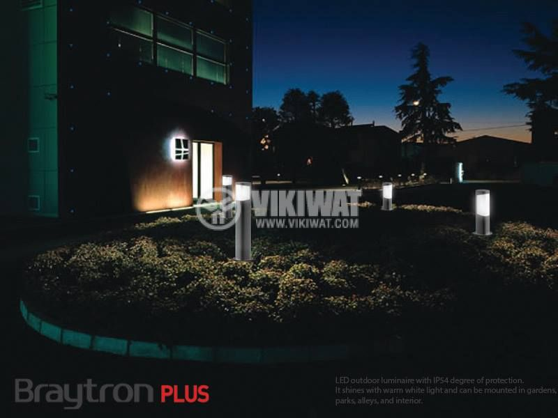 LED градинскa лампа TARUS-300, 7W, 220VAC, 500lm, 3000K, топло бяла, IP54, влагозащитена, BG43-01102 - 6
