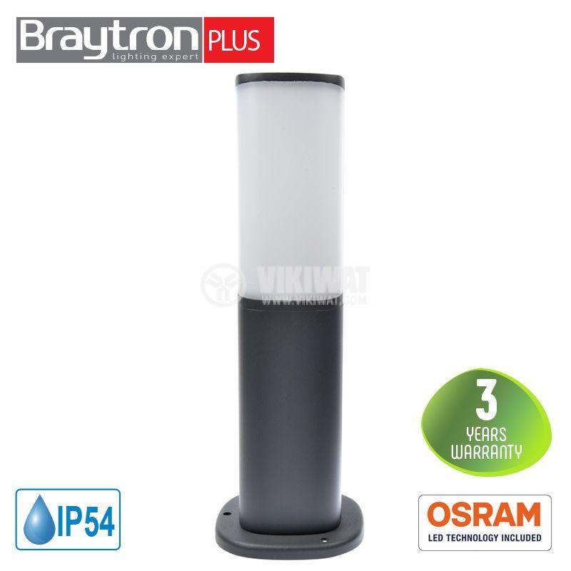 LED градинскa лампа TARUS-300, 7W, 220VAC, 500lm, 3000K, топло бяла, IP54, влагозащитена, BG43-01102 - 1