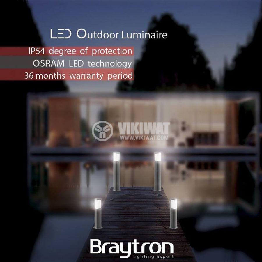 LED градинскa лампа TARUS-300, 7W, 220VAC, 500lm, 3000K, топло бяла, IP54, влагозащитена, BG43-01102 - 3