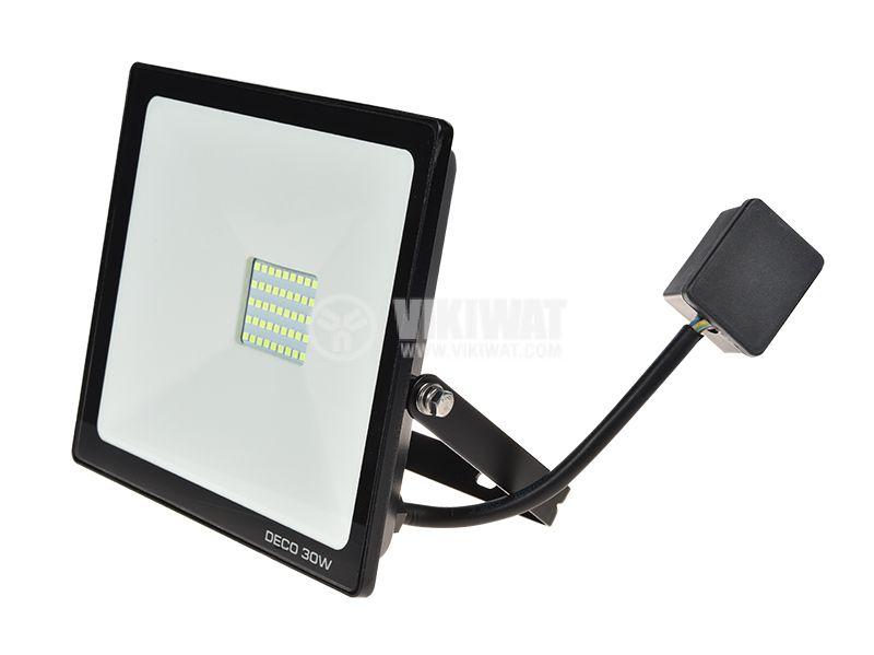 Зелен LED прожектор 30W, 220VAC, IP65, влагозащитен - 1