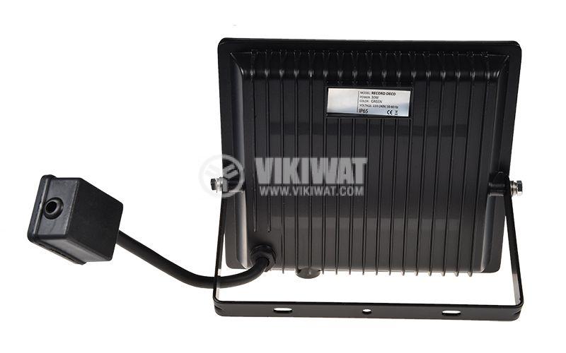 LED прожектор RECORD DECO, 30W, 220VAC, зелена светлина, IP65, влагозащитен - 2