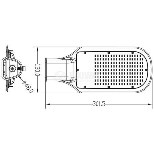 LED лампа за улично осветление STL1, 30W, 220VAC, 2700lm, 6000K, студенобяла, IP65, влагозащитена, BT42-03032 - 2