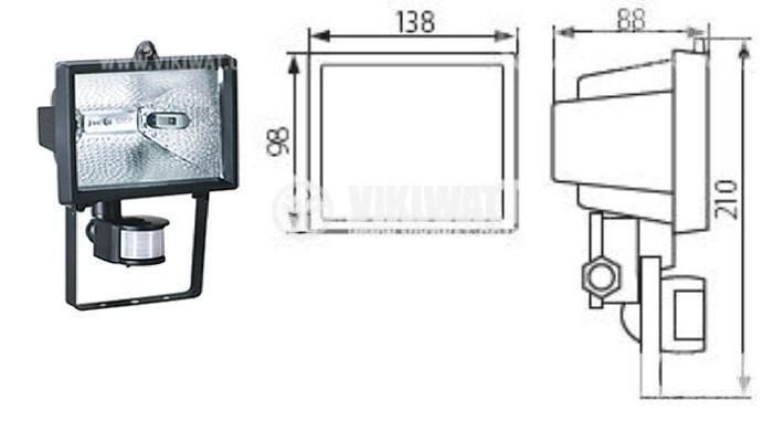 Flood light 150W with movement sensor