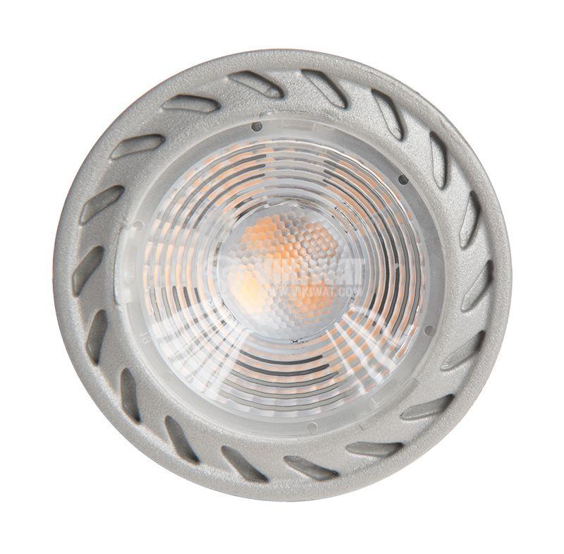 LED лампа 5W, GU10, 220VAC, 3000K, топло бяла, димируема, BA26-0550 - 4