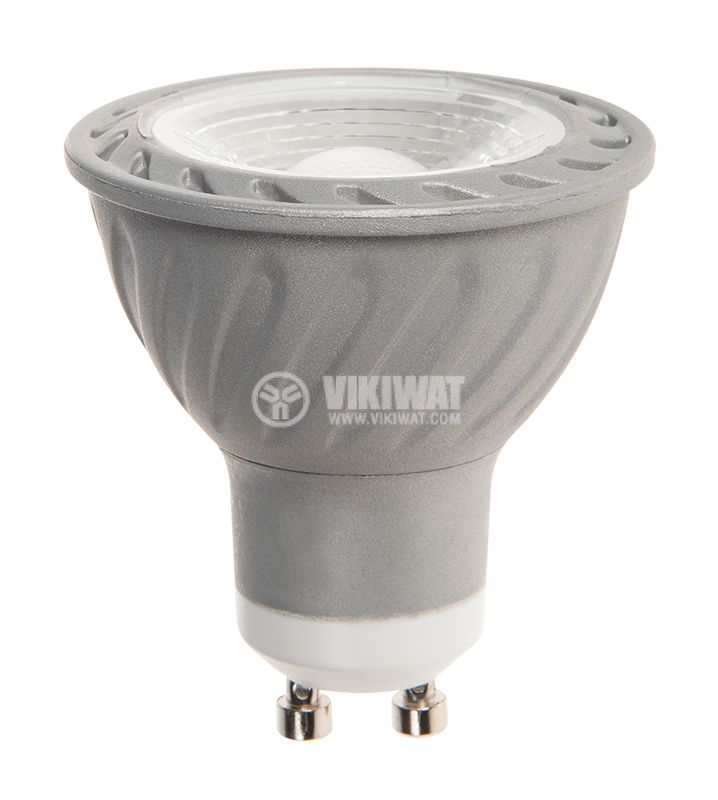 LED лампа 5W, GU10, 220VAC, 3000K, топло бяла, димируема, BA26-0550 - 2