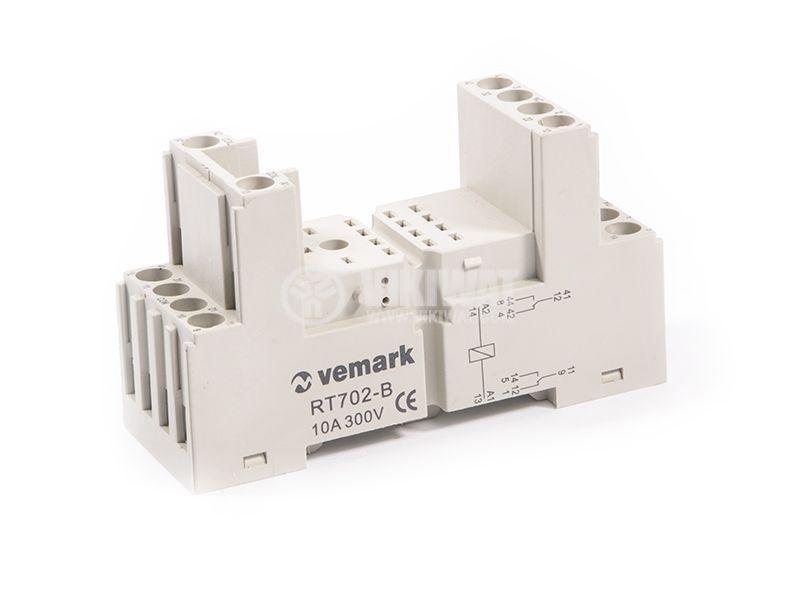Relay socket, RT702-B, 10A, 300VAC, 8pin - 1