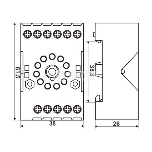 Relay socket AS770 11 pins - 4