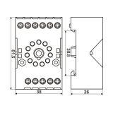 Relay socket AS770 11 pins