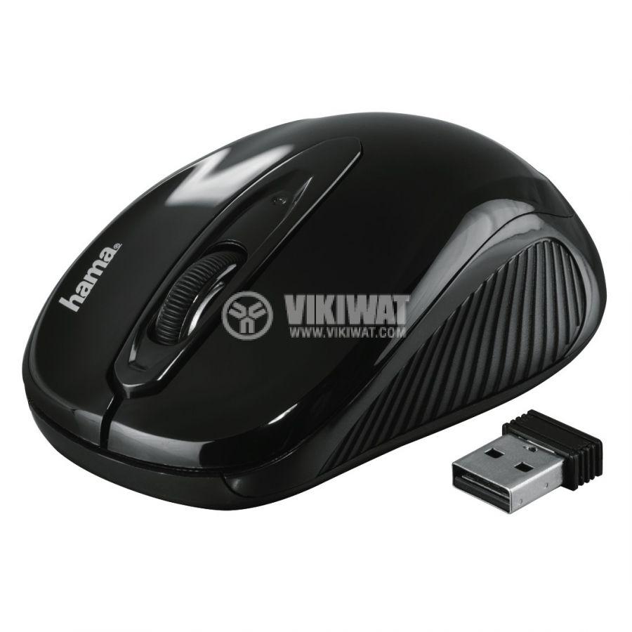 Безжична оптична мишка с 3 бутона, AM-7300 USB, черна - 2