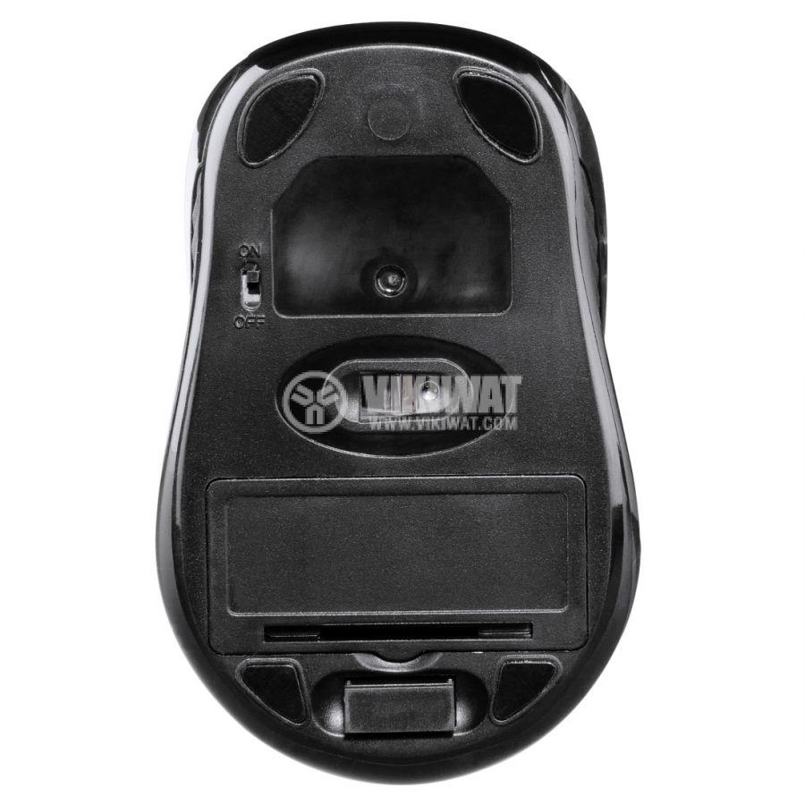 Безжична оптична мишка с 3 бутона, AM-7300 USB, черна - 3