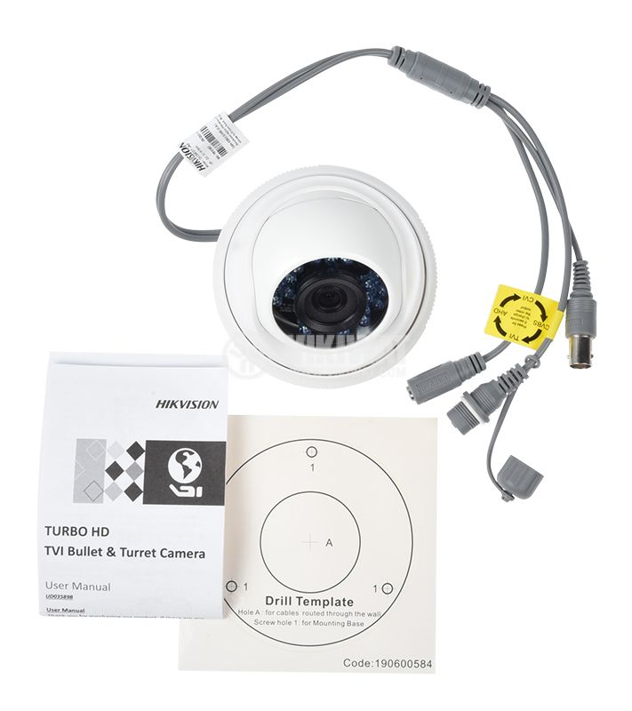 Camera 1Mpx 3.6mm DS-2CE56C0T-IRF HIKVISION - 8