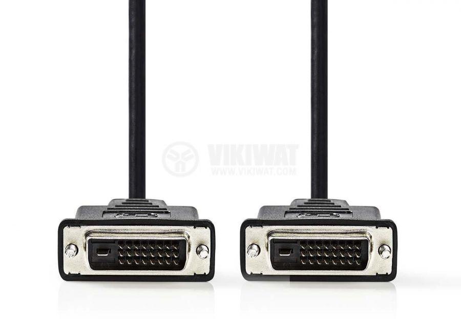 Кабел DVI/m-DVI/m 24+1 пина 5m черен - 2