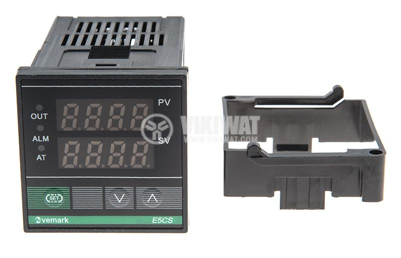 Temperature controller, E5CS, 220 VAC, 0 ° C to 400 ° C, thermistor type Pt100, relay output - 2