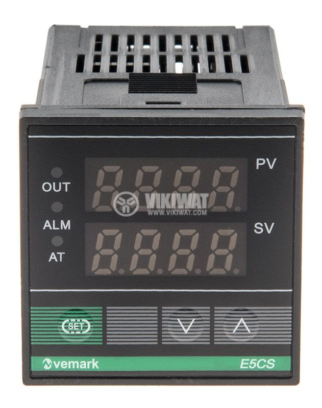 Temperature controller, E5CS, 220 VAC, 0 ° C to 400 ° C, thermistor type Pt100, relay output - 1