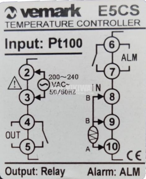 temperature controller e5cs 220 vac 0 c to 400 c