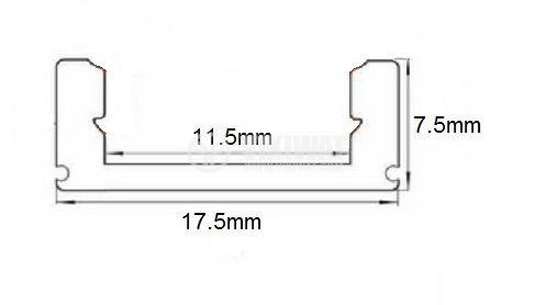 Алуминиев профил за LED лента, тесен, открит монтаж - 3