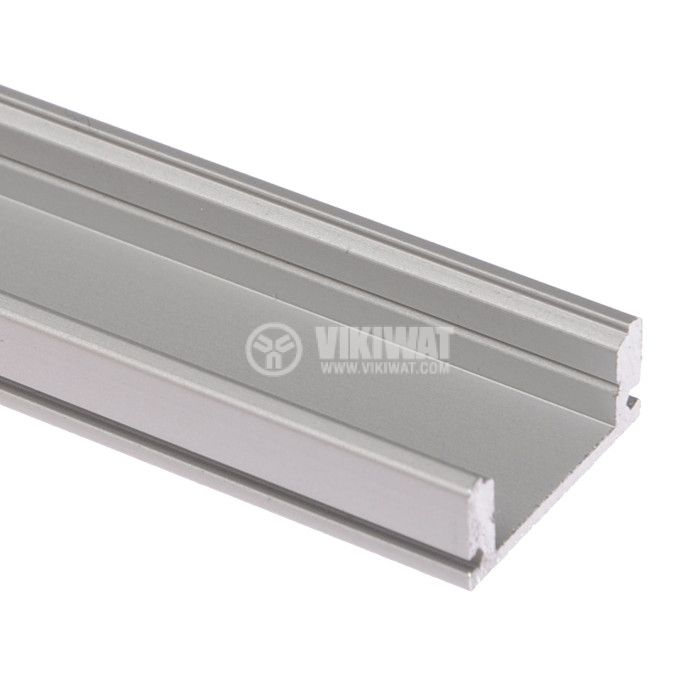Aluminium profile for LED strip, narrow, outdoor mounting - 1