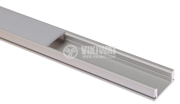 Алуминиев профил за LED лента, тесен, открит монтаж - 2