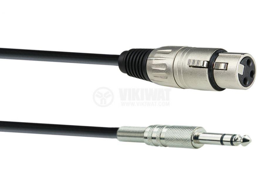 Кабел, plug 6.3 stereo/m-CANON/f, 0.8m