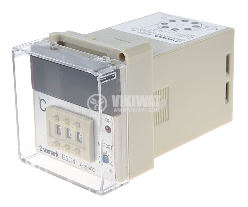 Temperature regulator, E5C4, 220 VAC, 0 ° C to 400 ° C, thermocouple type K, relay output - 1