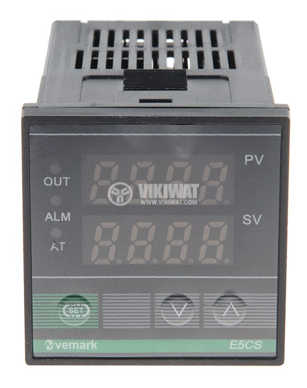 Temperature controller, E5CS, 220 VAC, 0 ° C to 1200 ° C, thermocouple type K, relay output - 3