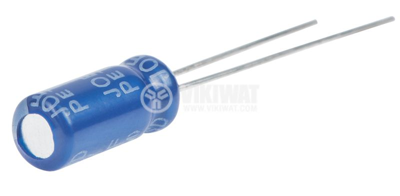 Electrolytic capacitor 4.7uF, 100VDC, ф5x11mm - 2