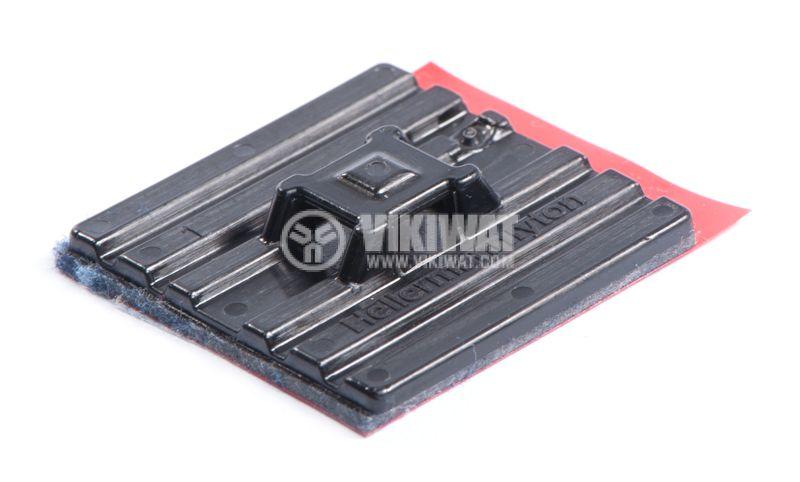 Държач за кабелни превръзки FMB4APT-I-PA66HS-BK, 28x28mm, черен, двойнозалепващ - 2