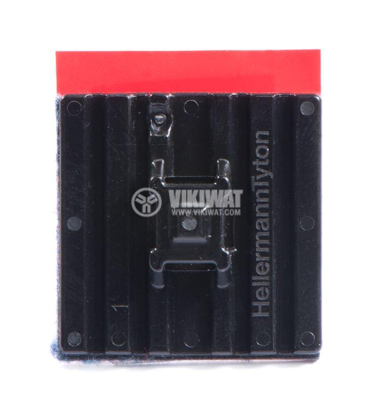 Държач за кабелни превръзки FMB4APT-I-PA66HS-BK, 28x28mm, черен, двойнозалепващ - 1