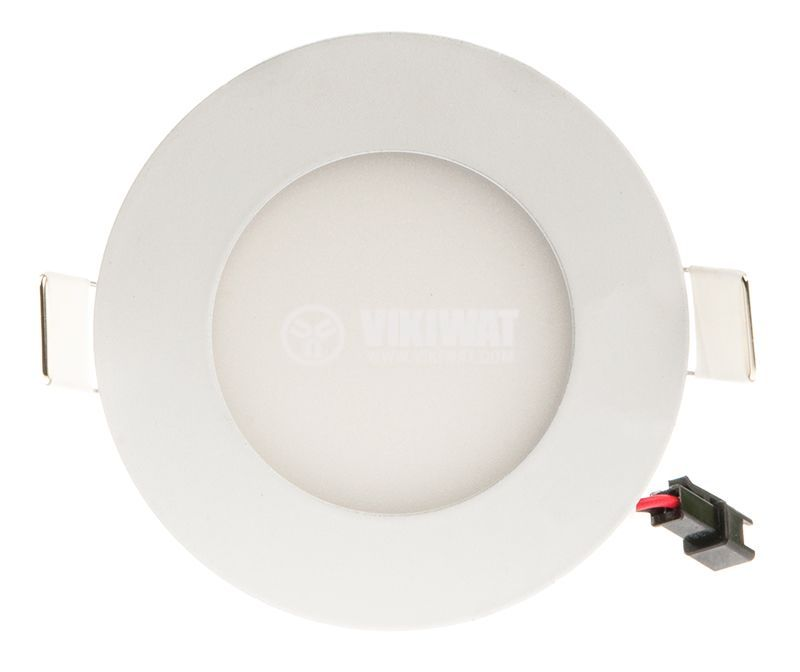 LED панел за вграждане 3W, 220VAC, 4200К, неутрално бял, ф85mm, BP01-30310 - 5