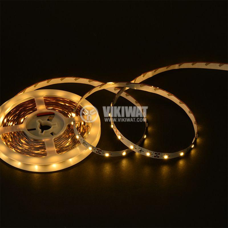 LED лента ECOLINE 3528, 60LED/m, 4.8W/m, 12VDC, IP20, невлагозащитена, топло бяла, BS45-0100 - 2