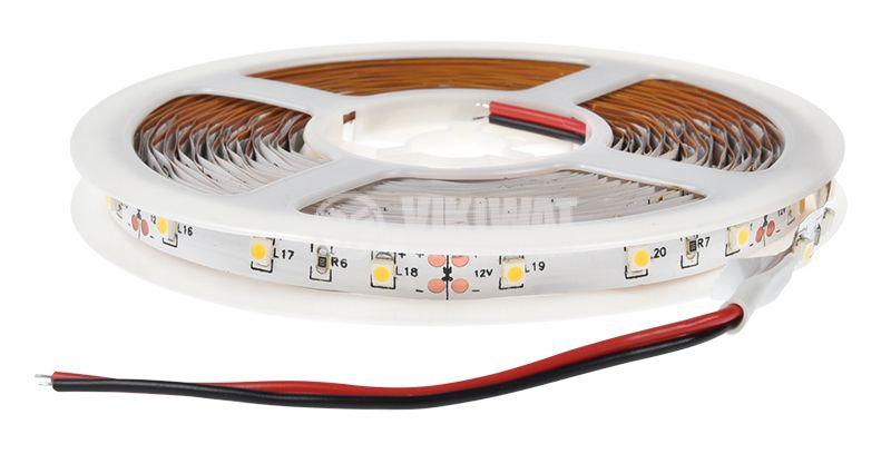 LED лента ECOLINE 3528, 60LED/m, 4.8W/m, 12VDC, IP20, невлагозащитена, топло бяла, BS45-0100 - 3