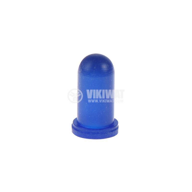 Маншон за лампа скала, ф4.8mm х 10.5mm, син